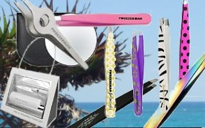 Tweezers used for removal of unwanted hair.
